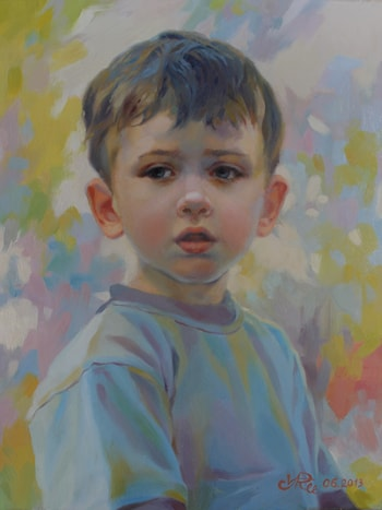 Portrait of a Little Boy. by Victoria Radionova