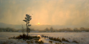 Light Snow over the Marsh by William Davis