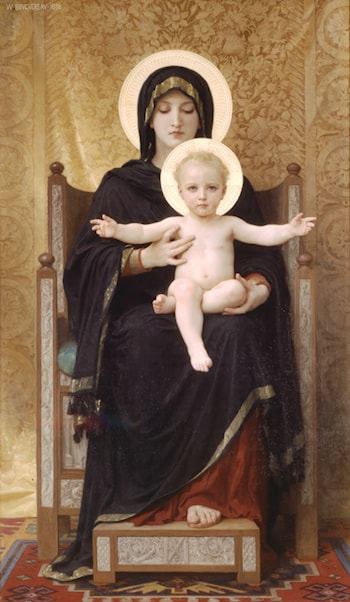 Madone Assise by William Adolphe Bouguereau