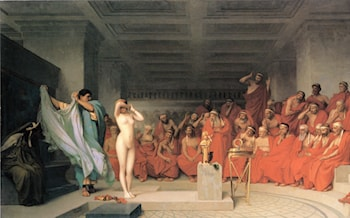 Phryne before the Areopagus by Jean-Leon Gerome