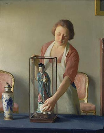 The Figurine by William McGregor Paxton