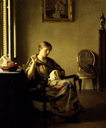 Woman Sewing by William McGregor Paxton