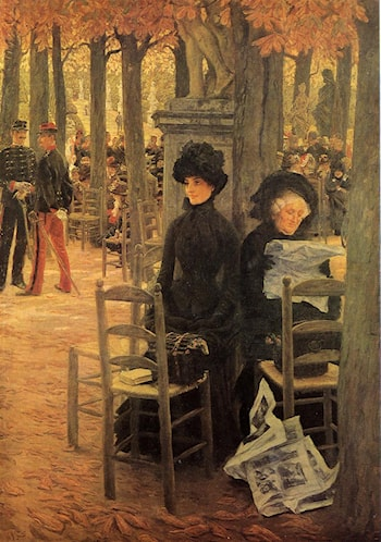Without a Dowry aka Sunday in the Luxembourg Gardens by James Jacques Joseph Tissot