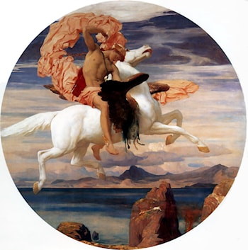 Perseus, on Pegasus, Hastening to the Rescue of Andromeda by Lord Frederick Leighton