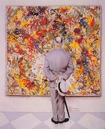 The Connoiseur by Norman Rockwell