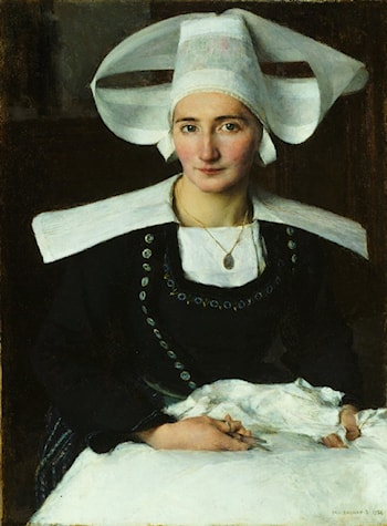 Woman from Brittany by Pascal-Adolphe-Jean Dagnan-Bouveret