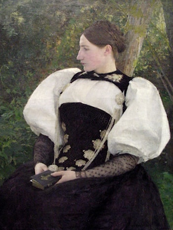 A Woman from Bern, Switzerland by Pascal-Adolphe-Jean Dagnan-Bouveret