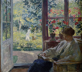 Woman Reading by a Window by Gari Melchers