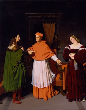 The Betrothal of Raphael and the Niece of Cardinal Bibbiena by Jean Auguste Dominique Ingres