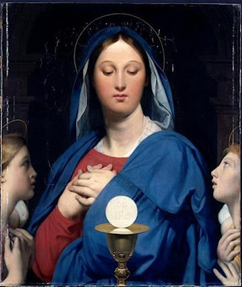 Madonna with Angels by Jean Auguste Dominique Ingres