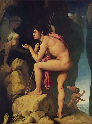 Oedipus and the Sphinx by Jean Auguste Dominique Ingres