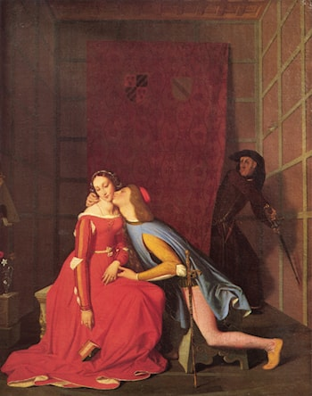 Paolo and Francesca by Jean Auguste Dominique Ingres