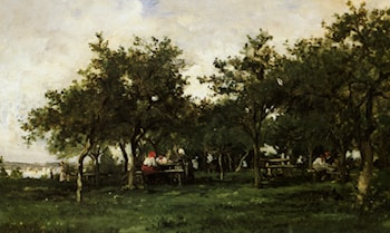 Peasants Repast by Karl Pierre Daubigny