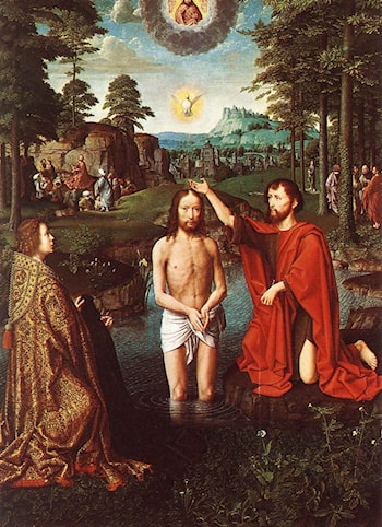 Triptych of Jean Des Trompes (central) by Gerard David