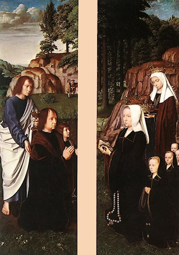 Triptych of Jean Des Trompes (side panels) by Gerard David