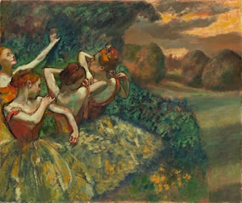 Four Dancers by Edgar Degas
