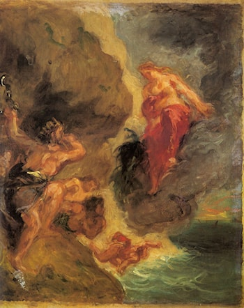 Winter ­­ Juno and Aeolus by Eugene Delacroix