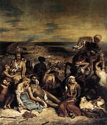 The Massacre at Chios by Eugene Delacroix