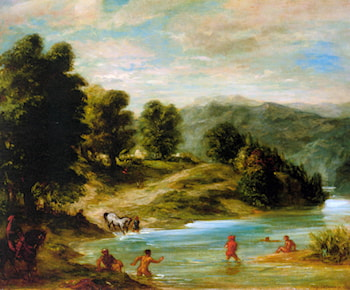 The Banks of the River Sebou by Eugene Delacroix