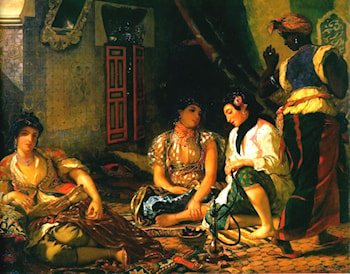 Women of Algiers in their Apartment by Eugene Delacroix