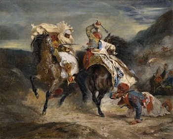 The Combat of the Giaour and Hassan by Eugene Delacroix