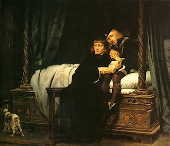 The children of King Edward imprisoned in the Tower by Paul Delaroche