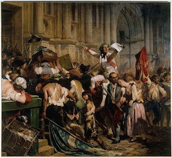 The Conquerors of the Bastille in Front of the City Hall, 14 July 1789 by Paul Delaroche