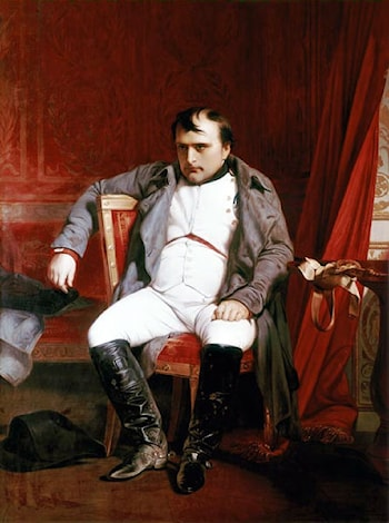 Napoleon Abdicated in Fontainbleau by Paul Delaroche