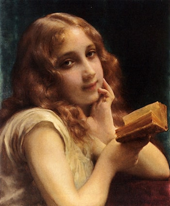 A Little Girl Reading by Etienne Adolphe Piot