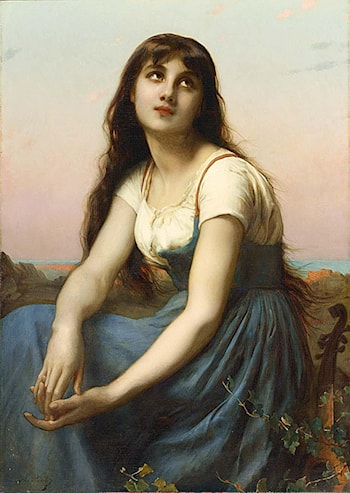 A Young Beauty by Etienne Adolphe Piot