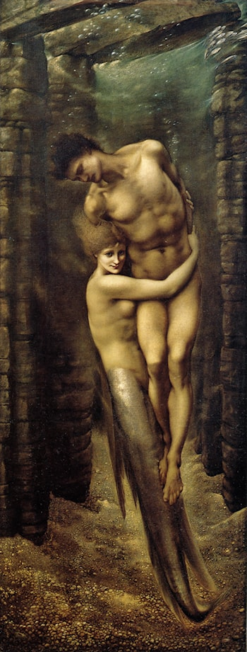 The Depths of the Sea by Edward Burne-Jones