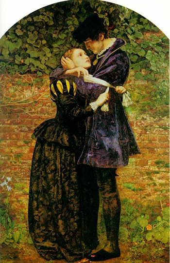 A Huguenot, on St. Bartholomew's Day Refusing to Shield Himself from Danger by Wearing the Roman Catholic Badge by John Everett Millais