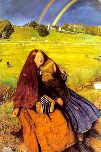 The Blind Girl by John Everett Millais