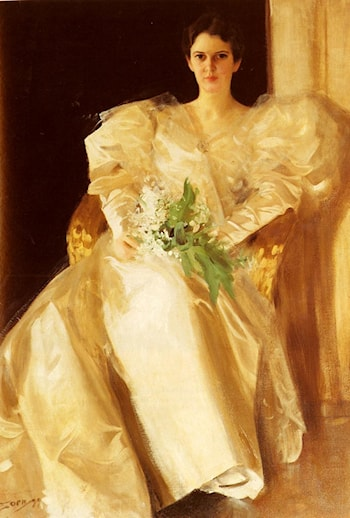 Portrait Of Mrs. Eben Richards by Anders Zorn