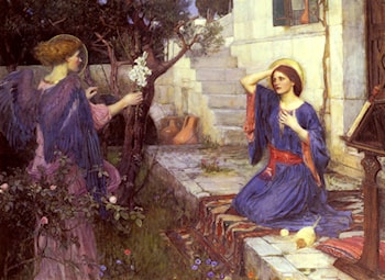 The Annunciation by John William Waterhouse