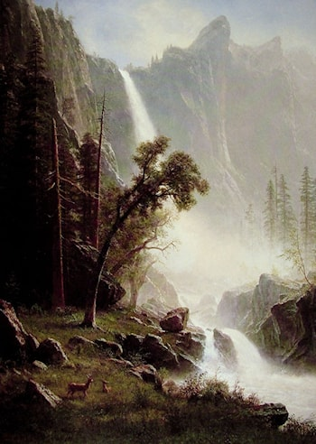 Bridal Veil Falls, Yosemite by Albert Bierstadt