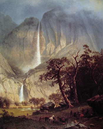 Cho­looke: The Yosemite Fall by Albert Bierstadt