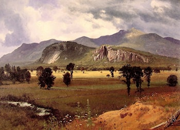 Moat Mountain Intervale, New Hampshire by Albert Bierstadt