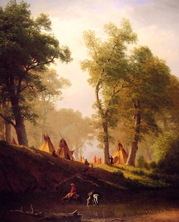 The Wolf River, Kansas by Albert Bierstadt