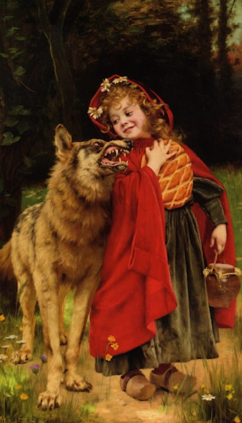 Little Red Riding Hood by Gabriel Joseph Marie Augustin Ferrier