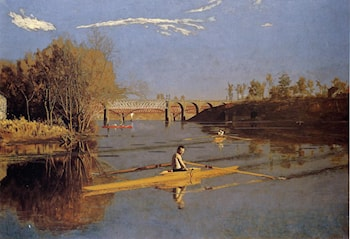 The Champion Single Sculls (Max Schmitt in a Single Scull) by Thomas Eakins
