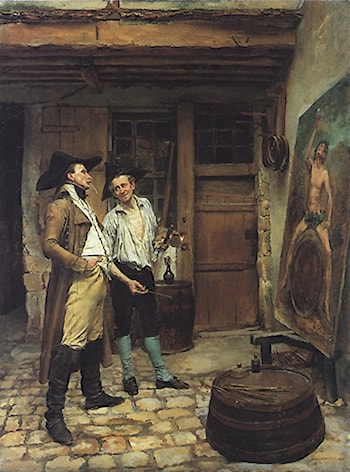 The Sign Painter by Jean-Louis Ernest Meissonier