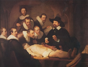 The Anatomy Lecture of Dr. Nicholaes Tulp by Rembrandt