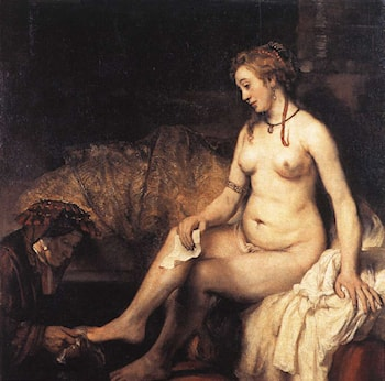 Bathsheba at Her Bath by Rembrandt