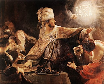 Belshazzar's Feast by Rembrandt