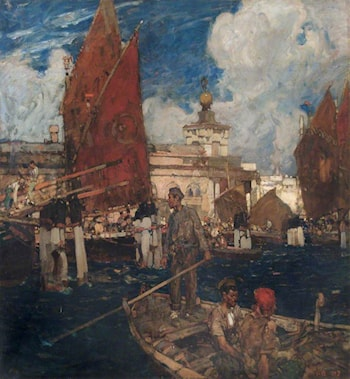 The Dogana, Venice by Sir Frank Brangwyn, R.A.