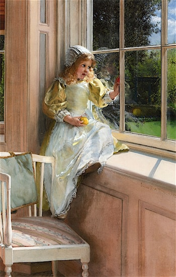 A Looking Out O'Window, Sunshine by Laura Theresa Alma-Tadema