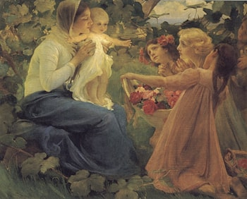 Presenting Flowers to the Infant by Franz Dvorak