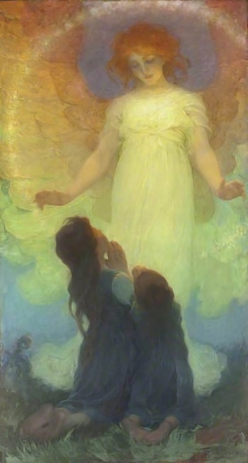 The Guardian Angel by Franz Dvorak