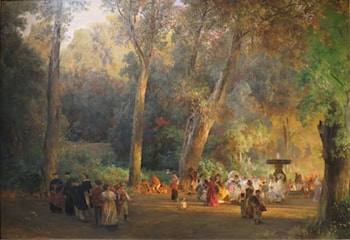 In the Park of Villa Torlonia by Oswald Achenbach